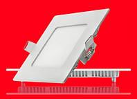 Врезной квадратный Даунлайт (Downlight) 6W тонкий, фото 1