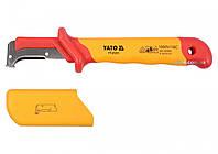 Нож диэлектрический для снятия изоляции YATO с лезвием 38 мм 155 мм