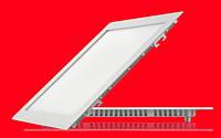 Врезной квадратный Даунлайт (Downlight) 24W тонкий, фото 1