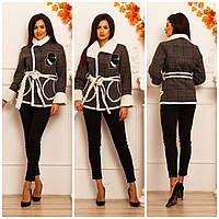 Женская стильная куртка дублёнка на меху