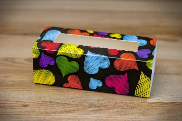 Коробки для макаронс Разноцветные сердца (упаковка 3 шт.), фото 2