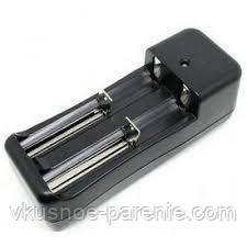 Зарядное устройство для 2х аккумуляторов 18350, 18650 (US вилка)