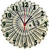 "Настенные часы МДФ ""Доллар"" кварцевые"