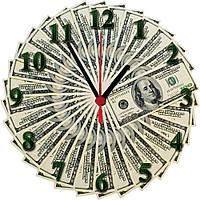 "Настенные часы МДФ ""Доллар"" кварцевые, фото 1"