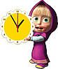 """Настенные часы МДФ """"Маша с часами"""" кварцевые"""