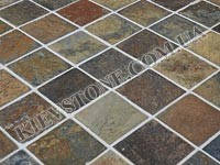 Тротуарный камень Рустик (коричневый)
