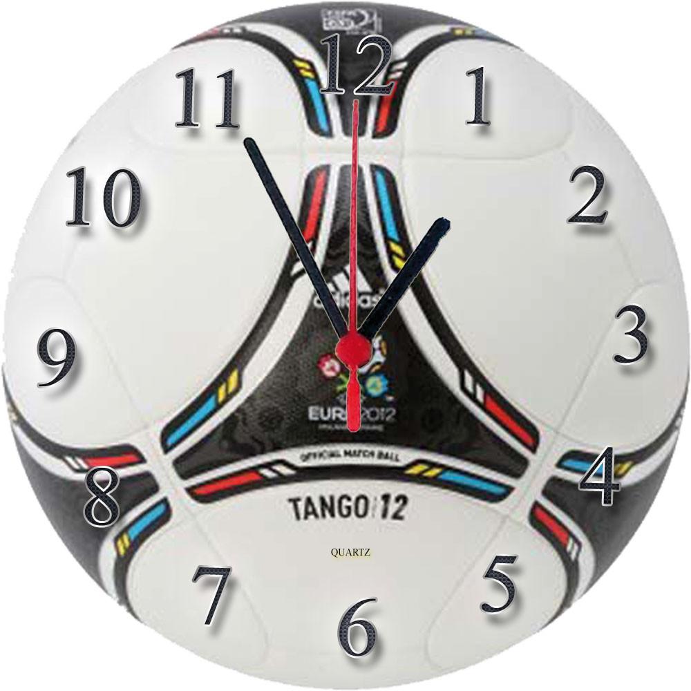 """Настенные часы """"Мяч Adidas Tango"""" из стекла кварцевые"""