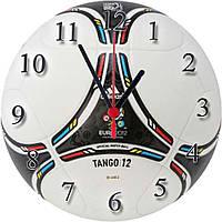 """Настенные часы """"Мяч Tango 12"""" из стекла кварцевые"""