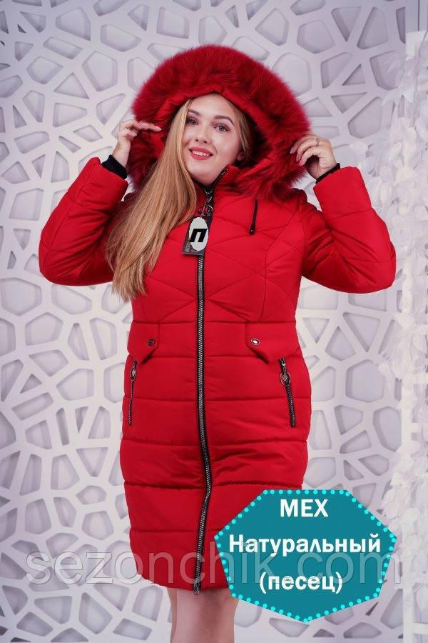 Яркие зимние куртки и пуховики женские с натуральным мехом