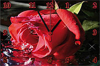 "Настенные часы секлянные  ""Роза"" кварцевые, фото 1"