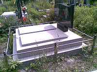 Надгробная плита из мраморной крошки
