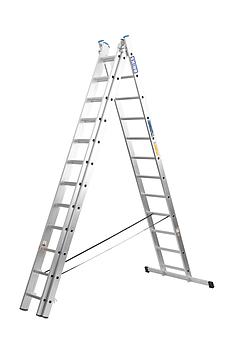 Лестница алюминий 1х15 BRIKS 420 см