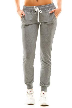 Женские спортивные штаны 406 темно-серый, фото 2