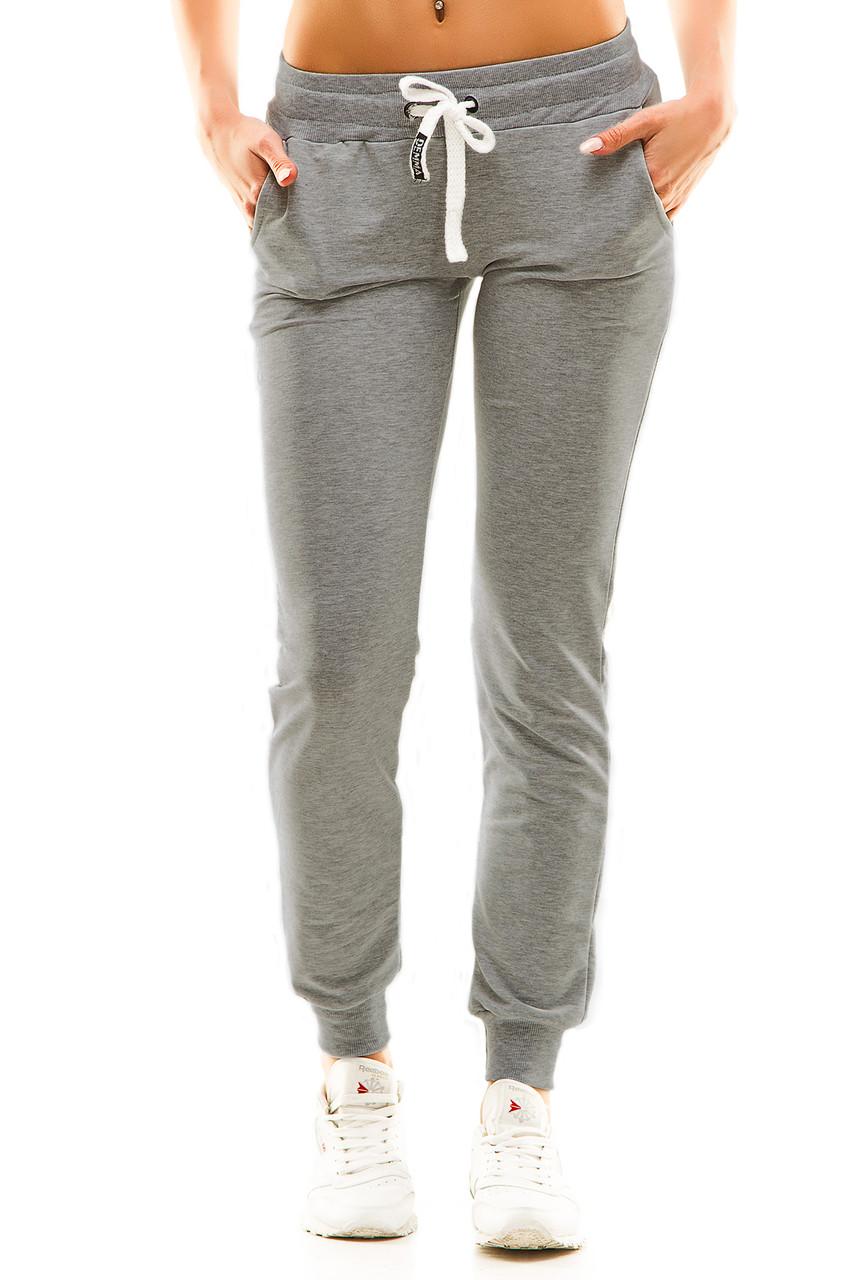 Женские спортивные штаны 406 темно-серый
