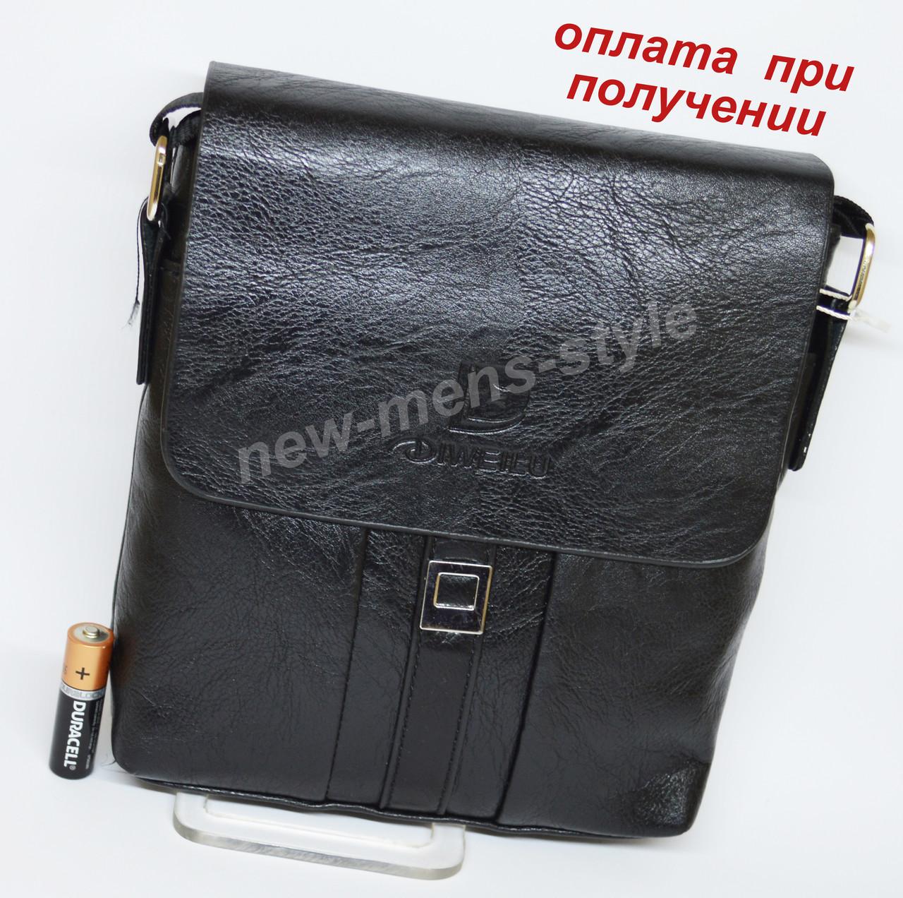 c7d3d52fa53c Мужская чоловіча кожаная сумка барсетка через плечо DIWEILU на подарок -