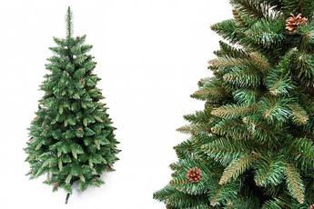 """Сосна """"Натуральная"""" на пластиковой подставке + гирлянда в подарок 180 см + гирлянда в подарок"""