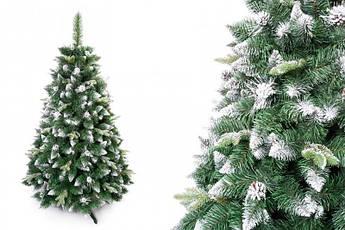 """Сосна """"Серебряная"""" на пластиковой подставке + гирлянда в подарок 180 см + гирлянда в подарок"""
