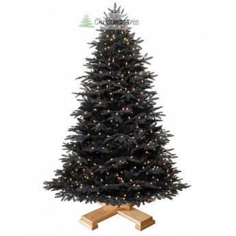 """Елка """"Черная"""" на деревянной подставке 185 + гирлянда в подарок"""