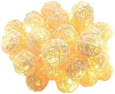 Новогодняя гирлянда, RATTAN BALLS, 7 Метров