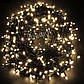 Новогодняя гирлянда 1000 LED, Длина 67m, Белый теплый свет,Кабель 2,2 мм, фото 5