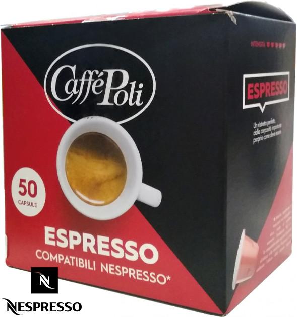 Кофе в капсулах Caffe Poli Nespresso Espresso 40% Арабики (50 шт.), Италия (Неспрессо)