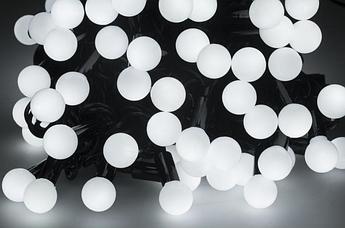 Новогодняя гирлянда 100 LED / 10 м, Белый холодный свет