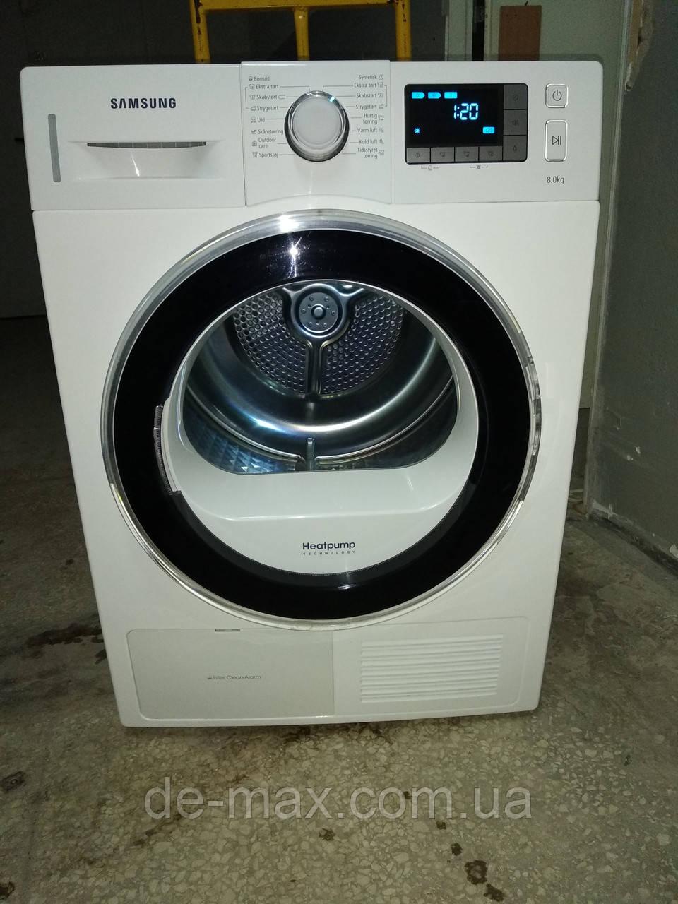 Сушильная машина на 8кг Samsung DV80F5EBHGW А++ с тепловым насосом