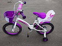 """⭐✅ Детский двухколесный велосипед Crosser Kids Bike 12"""" дюймов БЕЛО-РОЗОВЫЙ Кроссер Кидс байк! ДЛЯ ДЕВОЧЕК!"""