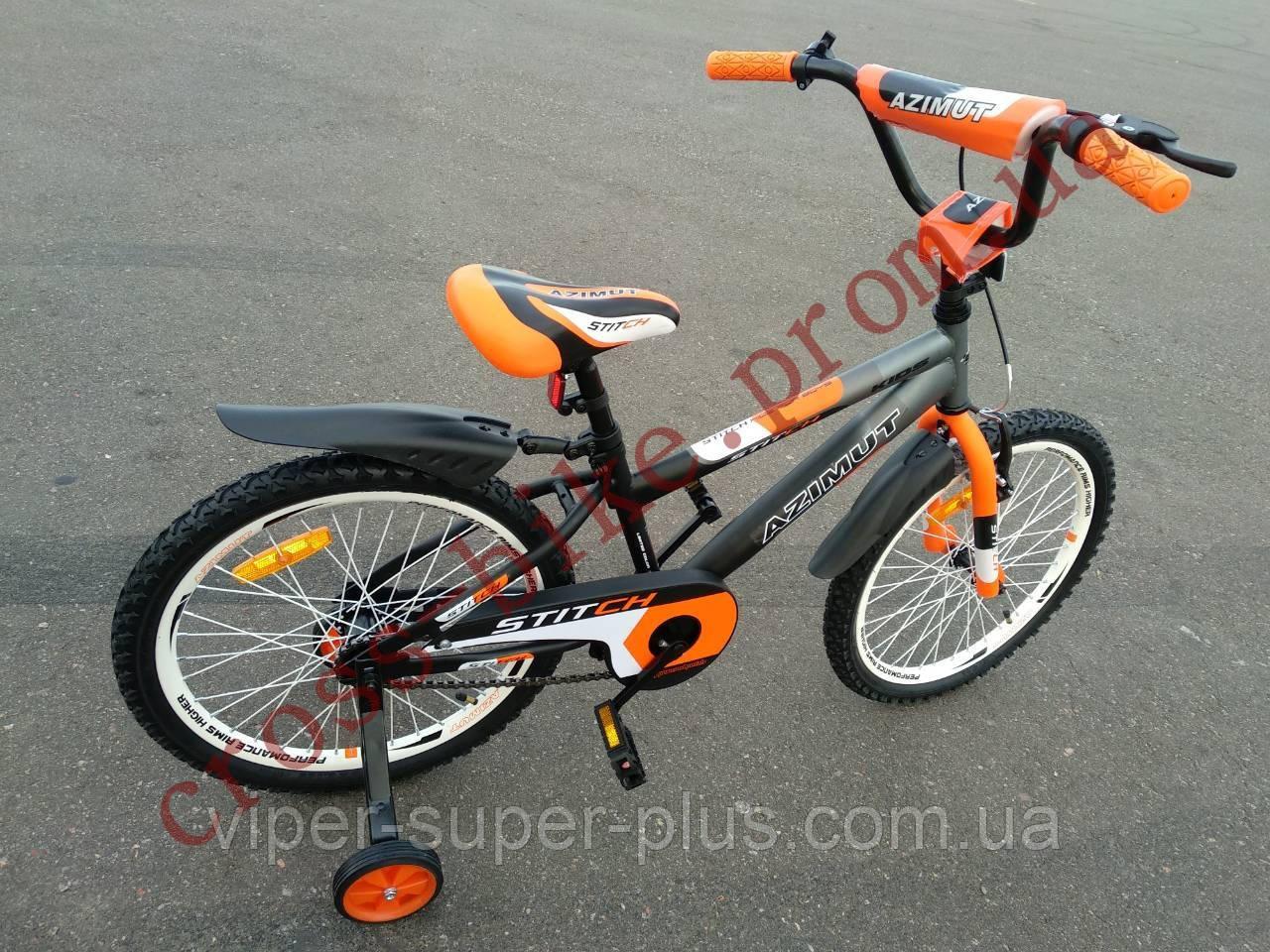 Детский двухколесный велосипед Азимут Стич  Stitch A 18 дюймов