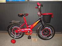 Детский двухколесный велосипед Azimut Тачки 14 дюймов для мальчика
