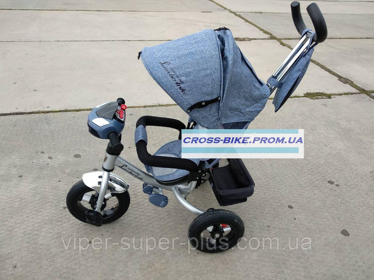 Детский трехколесный велосипед BC-17B - AIR ЕСО Denim