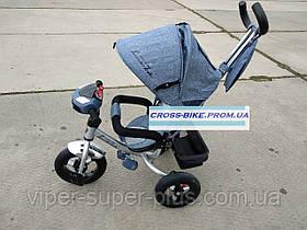 Дитячий триколісний велосипед BC-17B - AIR ЕСО Denim
