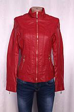 Жіноча куртка з еко-шкіри