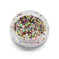 Шестигранники новогодние, конфетти для дизайна ногтей, микс цветов