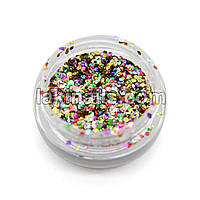 Шестигранники новогодние, конфетти для дизайна ногтей, микс цветов GX-MIX