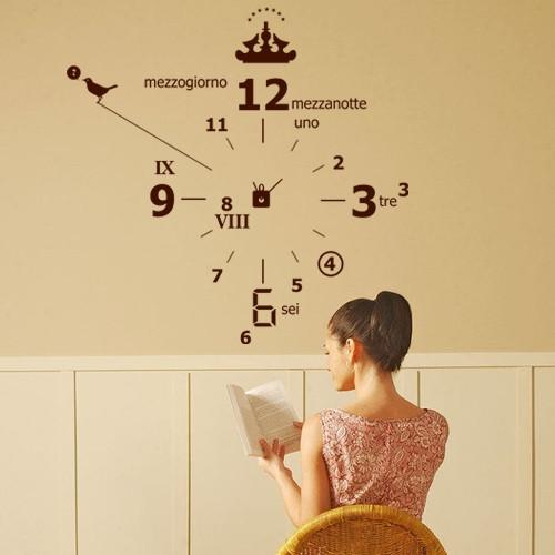 Интерьерная виниловая наклейка Часы (самоклеющаяся пленка)