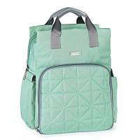 5000101 Рюкзак для мамы стеганый мятний, фото 1
