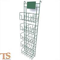 Стенд под специи на 10 карманов вертикальный навесной с табличкой, фото 1