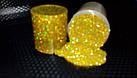 Глітер галографічний золотий 10г, фото 2