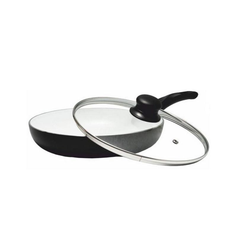 Сковорода 22см литая алюминиевая с мраморным антипригарным покрытием Kinghoff KH3867