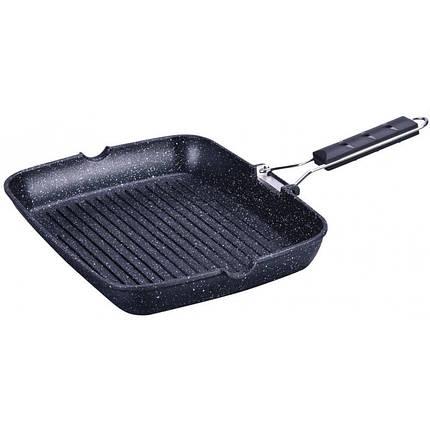 Сковорода-гриль 36*28см литая алюминиевая с гранитным покрытием Kinghoff KH3749, фото 2