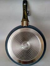 Сковорода 20см из литого алюминия алюминиевая с антипригарным мраморным покрытием Bohmann BH 1006-20 MRB, фото 2