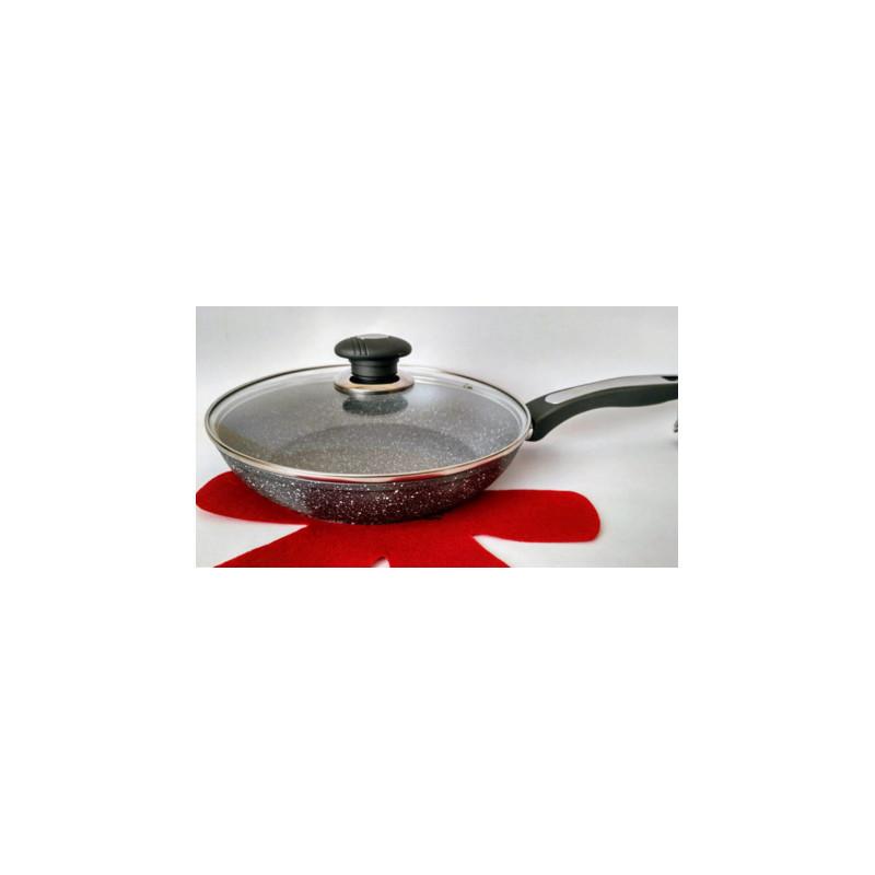 Сковорода 24см литая алюминиевая с мраморным антипригарным покрытием Vissner VS7534-24