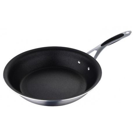 Сковорода 28*6см литая алюминиевая с тефлоновым антипригарным покрытием Bergner BGMP-7953