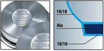 Посуда Bohmann 6ч BH 0916 TF (3.6л; 3,9л; cот 24см), фото 2