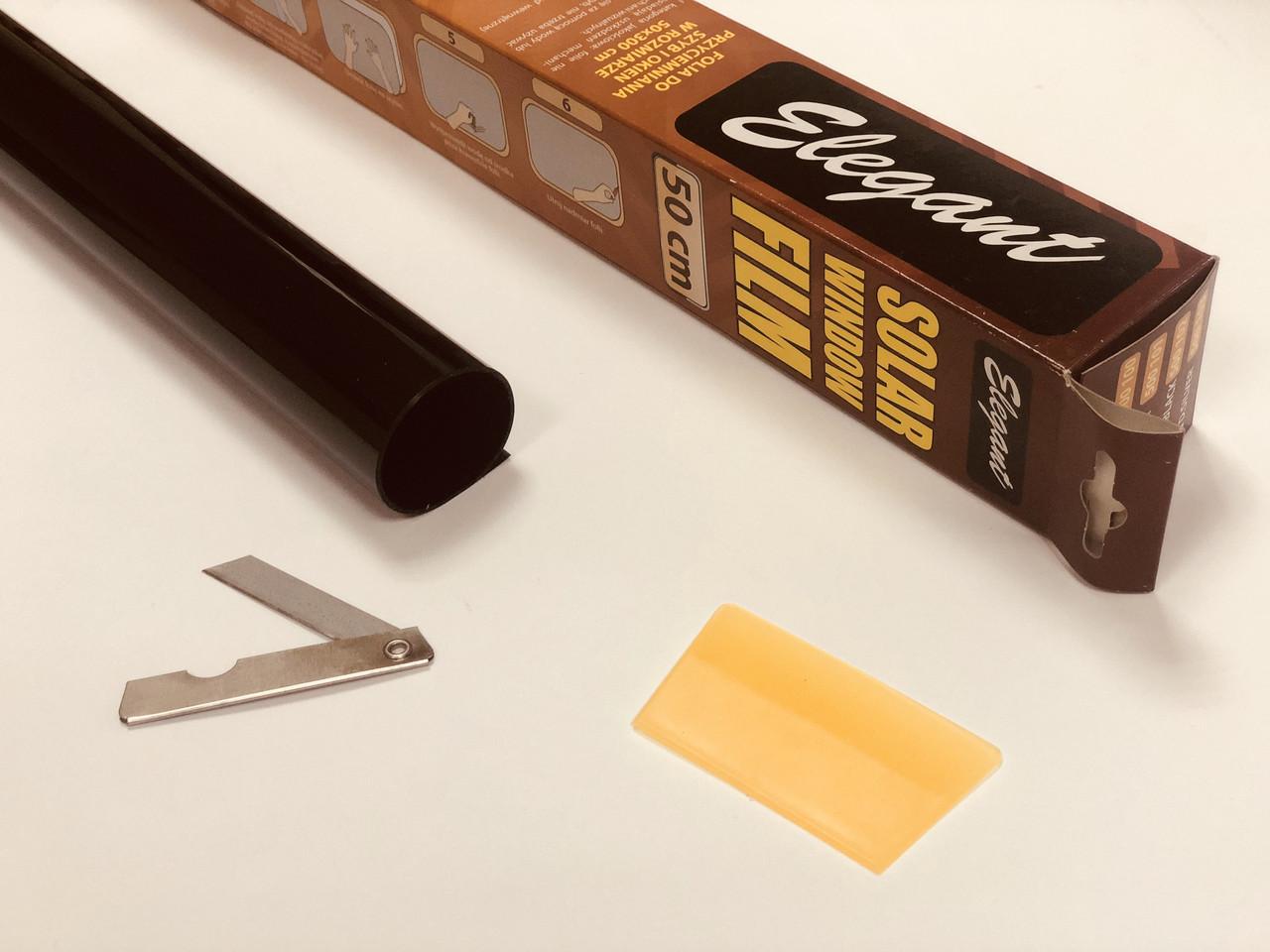 Тонувальна плівка 0.5х3 м S. D. BLACK з антицарапным покриттям SRC 23 мкм Elegant Plus EL 500152