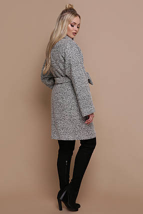 Женское оверсайз пальто с поясом без капюшона шерсть 42 44 46 48 50, фото 2