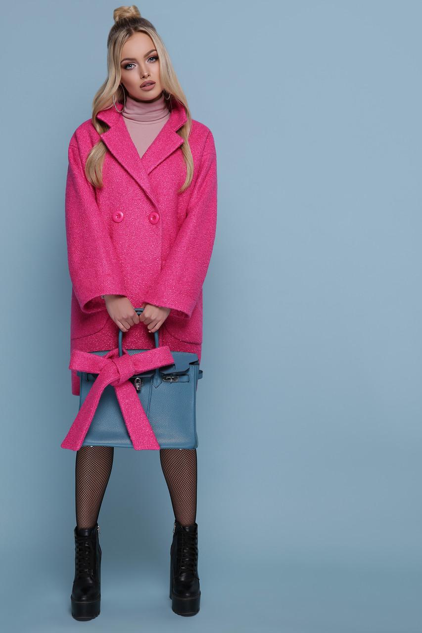 Женское оверсайз пальто с поясом без капюшона шерсть 42 44
