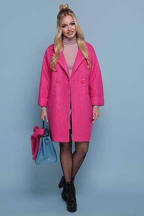 Женское оверсайз пальто с поясом без капюшона шерсть 42 44 , фото 2