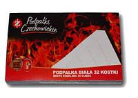 Разжигатели огня Czechowice в картонной упаковке белые 32 шт. , фото 1
